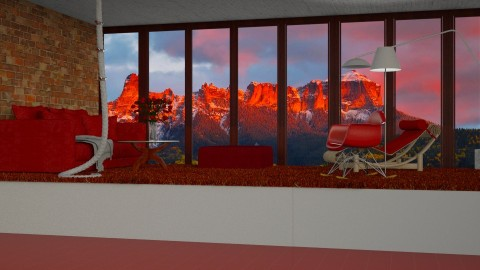 Red Dusk  - by InteriorDesigner111