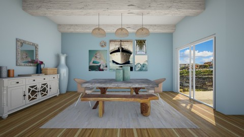 Coastal Dining Room - Dining room - by kennyhollis99
