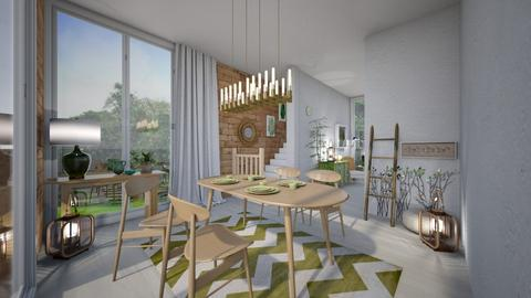 Green Dining Room - Dining room - by seufri