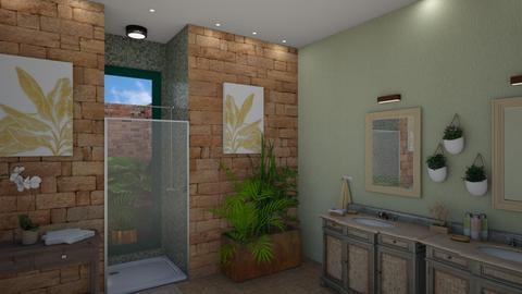urban jungle bathroom - by fippydude