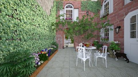 Quiet Courtyard - by Violetta V