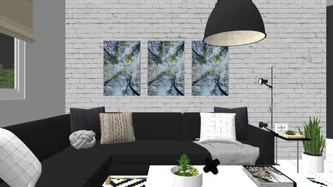 RS Living Perspective C - Minimal - Living room - by Karla Cepeda Ramos