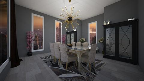 Penthouse Dining - Glamour - Dining room - by lionhuntress29