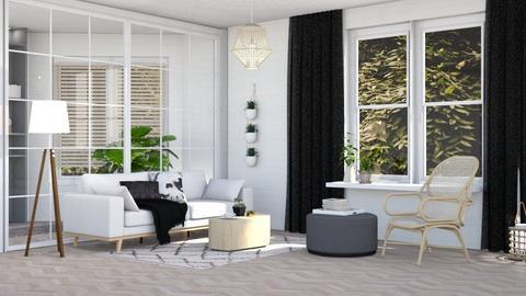 Haring Oak - Living room - by evemorgan96