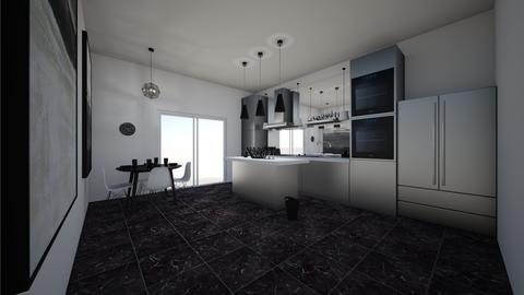 ModernMarbleAndCleanCut   - Modern - Kitchen - by jade1111