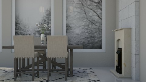 Winter Dining - Country - Dining room - by millerfam