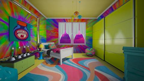 neon4 - Retro - Bedroom - by donella