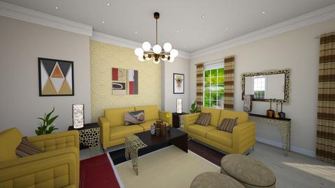 Geometric Living Room - Living room - by Kaijae