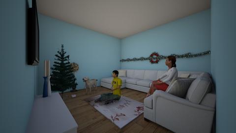 Christmas Holiday - Retro - Living room - by RStev007