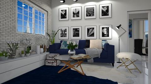 White and Blue Room - by Gabby Lovell