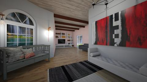 Pink and grey room - by natliner