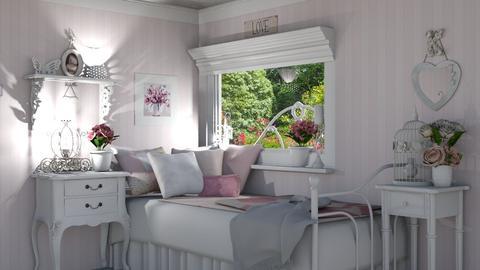 Feminine Bedroom - Bedroom - by creato