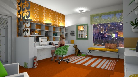 citrus Office for Kelly - Modern - Office - by donella