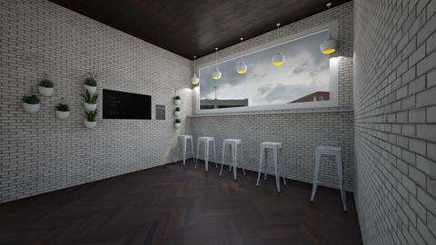 modern cozy city cafe  - Modern - Dining room - by jade1111