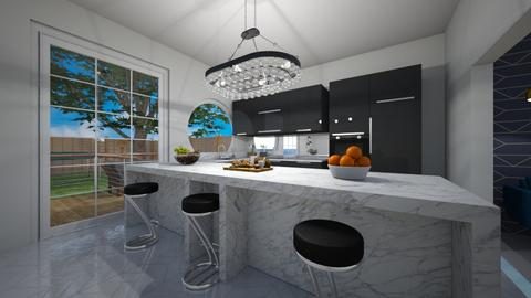 Kitchen with Bar - Kitchen - by nicolaswiggins
