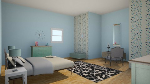 blue teen room - Modern - Bedroom - by Dorotea Tea Grkovik