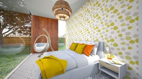 Mid Century Slumber - Bedroom - by Nikki Lipstick