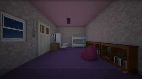 Peaceful Bedroom - Feminine - Kids room - by gem27