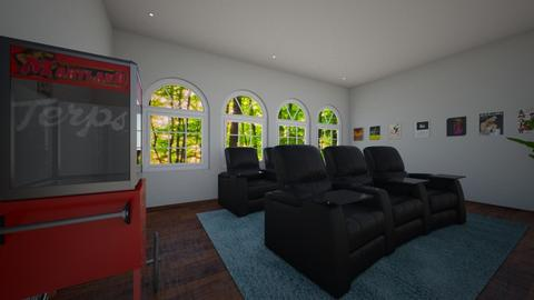 movie room - Kids room - by hallefran