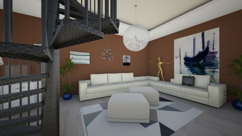 living room 1 brown - Modern - Living room - by BS design