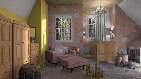 pink boho - Feminine - Kids room - by jjannnii