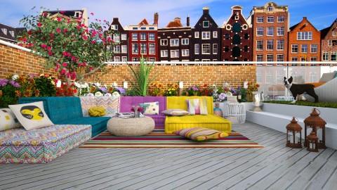 Garden terrace Amsterdam - by meggle