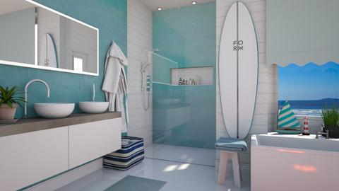 Nautical Bathroom - by neide oliveira