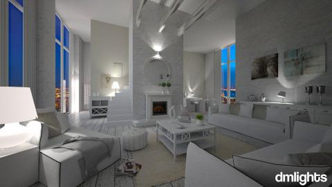 total white - Living room - by Senia N