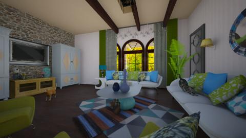 Studio Apartment MI - Rustic - Living room - by akhtar_amina