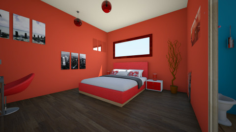Bedroom with small bath - Modern - Bedroom - by ery123