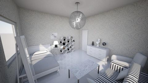 White But Not Clinical - Modern - Bedroom - by KajsaRain