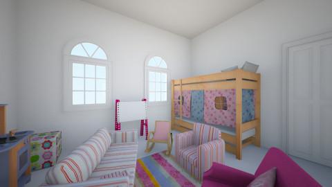 Pink Girly Girl - Kids room - by Rose Granger