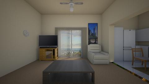 Small Apartment LA - Living room - by WestVirginiaRebel