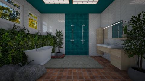 urban jungle bthrm - Bathroom - by Kylie Awa
