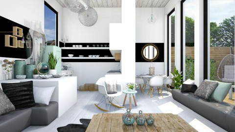 White_Mint_Wood - Modern - Kitchen - by StienAerts