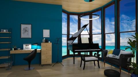 Seaside Study Room - by pechaberry