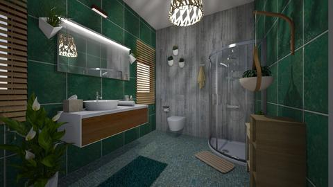 jungle bath - Bathroom - by NWD