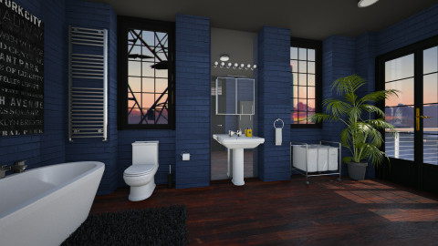 The Blue Loo - Modern - Bathroom - by evahassing