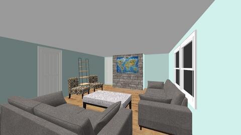 Family Rm Haddock chairs - Living room - by shaddock