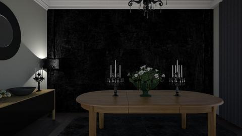Black Kitchen  - Glamour - Kitchen - by RedVelvet21