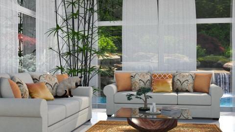 Liminal Grey - Modern - Living room - by Saharasaraharas