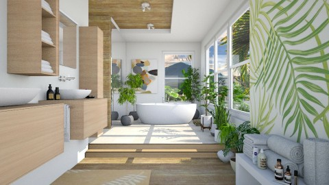 Tropical Bathroom - by Ania Daliva