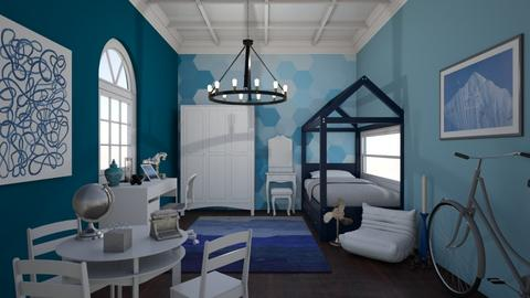 Kids Blue Bedroom - Modern - Bedroom - by laurenpoisner