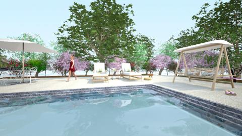okBaz - Retro - Garden - by Saj Trinaest