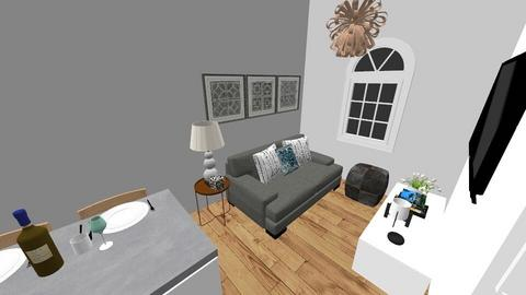 Living room and kitchen - Modern - Living room - by ivoryblu