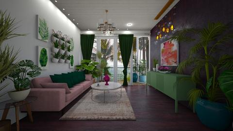 jungle tropical - Living room - by MissREZA