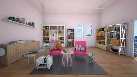Book room - Classic - Office - by Kieu My Phuong Nguyen