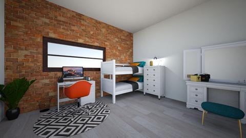 Colourful Bedroom - Modern - Bedroom - by evo2112loki