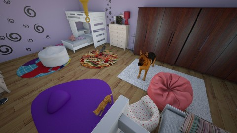 four sisters bedroom - Feminine - Kids room - by bethanyann