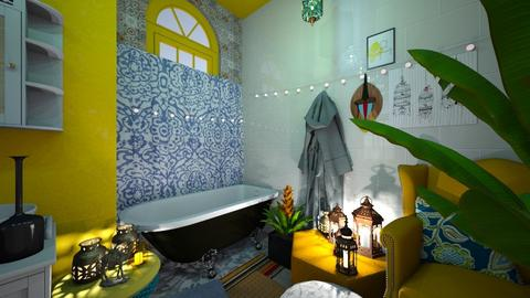 Boho Bathroom - Eclectic - Bathroom - by HIHELLOHI